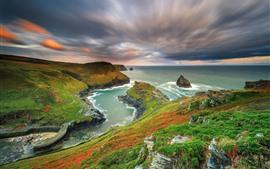 Aperçu fond d'écran Paysage magnifique nature, montagnes, mer, côte, couleurs