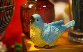 Estátua de pássaro, decoração