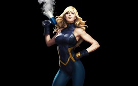 Черный Канарейка, супергерой, девушка, DC Comics