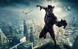 Preview wallpaper Black Panther, 2018 movie, DC Comics