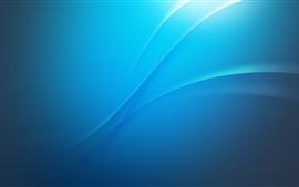 Aperçu fond d'écran Style bleu, courbes, image abstraite