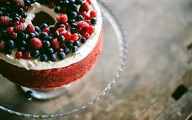 Preview wallpaper Cake, berries, dessert