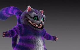 Cheshire cat, green eyes, art picture