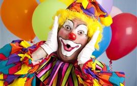 Aperçu fond d'écran Clown, vêtements colorés, maquillage