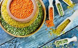 Preview wallpaper Colorful beans, lentils, bowl