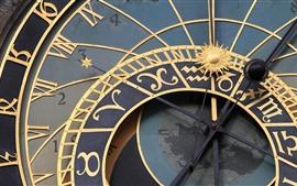 República tcheca, praga, astronômico, relógio