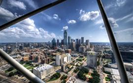 Dallas, Estados Unidos, vista a la ciudad, edificios
