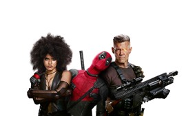 Preview wallpaper Deadpool 2, white background