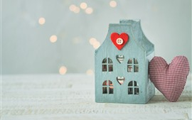 Decoration, house, love heart, gift