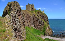 Preview wallpaper Dunnottar Castle, England, coast, sea, rocks