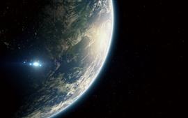 壁紙のプレビュー 地球、惑星、宇宙船、宇宙