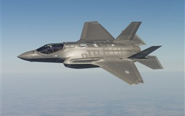 Preview wallpaper F-35 fighter, sky