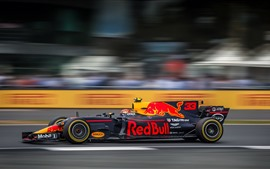 Preview wallpaper F1 race car, high speed