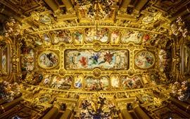 France, paris, opéra garnier, plafond, beau, peinture