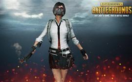 Aperçu fond d'écran Fille, pistolet, champs de bataille de PlayerUnknown