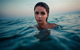 Girl in water, swim