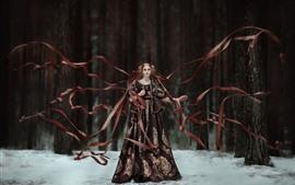 Девушка, ленты, художественная фотография