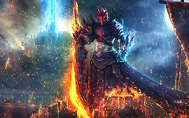 Preview wallpaper Guild Wars 2, warrior, flame