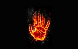 Hand, fire, flame, creative design