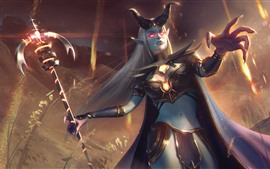 Preview wallpaper Heroes of Newerth, girl, horns
