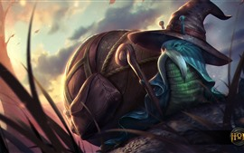 Preview wallpaper Heroes of Newerth, snail, hat