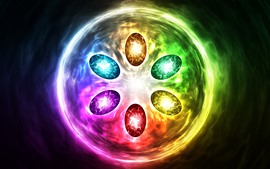 Preview wallpaper Infinity gems, colorful light