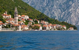 Kotor, Montenegro, houses, sea, city