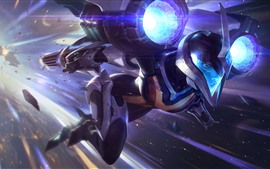 Preview wallpaper League of legends, girl, helmet