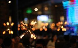 Preview wallpaper Light bulb, warm, night