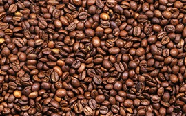 Preview wallpaper Many coffee beans, texture background