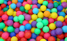 Many colorful play balls