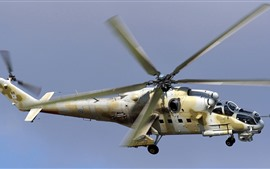 Preview wallpaper Mi-35P attack helicopter