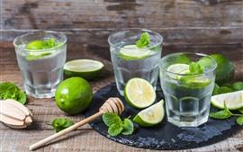 Mojito, bebidas, limão verde
