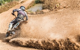 Preview wallpaper Motorcycle race, dirt splash