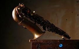 Preview wallpaper Musical instrument, saxophone