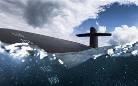 Preview wallpaper Navy, submarine, sea, water
