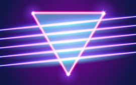 Preview wallpaper Neon triangle, abstract light