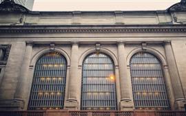 Нью-Йорк, здания, окна, США