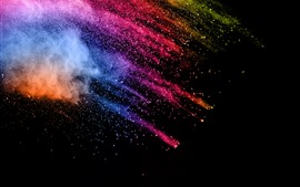 Preview wallpaper Paint splash, colorful, abstract picture