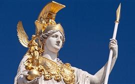 Aperçu fond d'écran Pallas Athena, statue de la déesse, armure