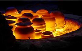 Pottery firing, kiln