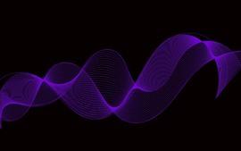 Curvas púrpuras, fondo negro, abstracto