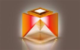 Aperçu fond d'écran Cube pyramide, dessin abstrait