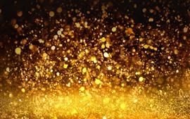 Preview wallpaper Rain, golden colors, shine