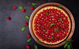 Raspberry pie, mint