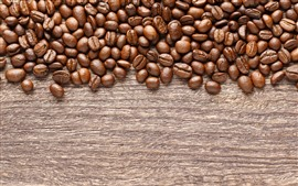 Preview wallpaper Roasted coffee beans, wood board