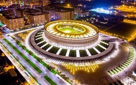 Aperçu fond d'écran Russie, Kuban, Krasnodar, stade de football, nuit, lumières