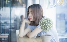 Vorschau des Hintergrundbilder Traurigkeit Mädchen, Bar