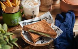 Sandwiches, comida, desayuno