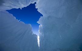 Aperçu fond d'écran Lac Sayram, glace, Xinjiang